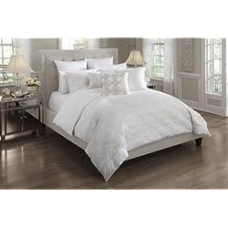 Croscill Home Camille King Comforter Mini Set, White