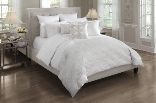 Croscill Home Camille King Comforter Mini Set, White front-828219