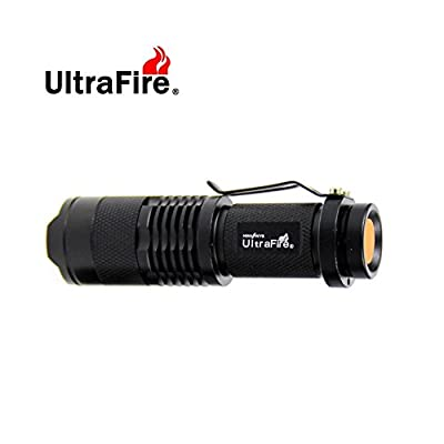 UltraFire? 7W 300LM Mini XPE Q5 Zoomable LED Flashlight Adjustable Focus Portable LED Light Lamp Flashlight Torch