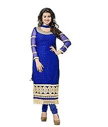 Starword Beautiful Heavy Tarzan Blue Semi stiched Dress Material High Qualitty