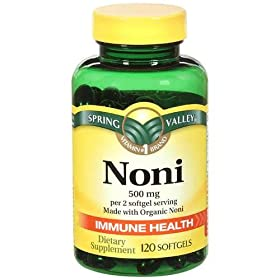 Spring Valley - Noni 500 mg, 120 Softgels