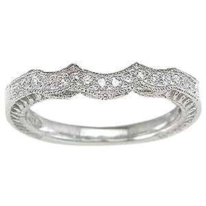 Amazon.com: Wedding Band for 3 Stone Engagement Ring .925