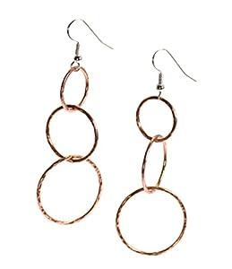 Handmade Copper Dangle Earrings by John S Brana Handmade Jewelry - High-Quality Durable Copper Earrings - Lightweight - Lifetime Guarantee