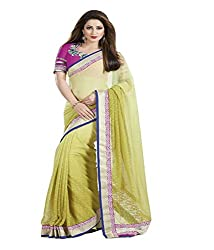 Ambica Border Work Saree with Blouse Piece (Multi-Coloured)