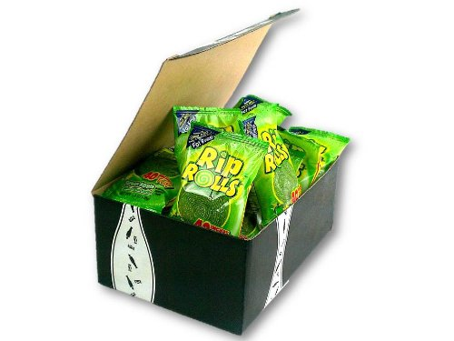 Green Apple Rip Rolls, 1.4 Oz Packages In A Gift Box (Pack Of 12) front-1011818