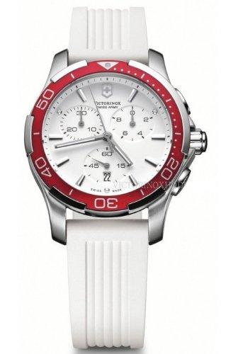 Victorinox V241504 - Reloj unisex, correa de goma color blanco