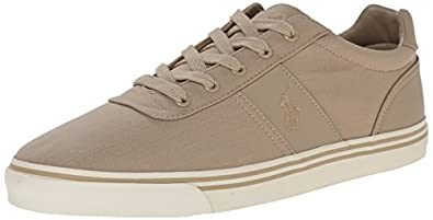 Polo Ralph Lauren Men's Hanford Fashion Sneaker, Khaki, 7 D US