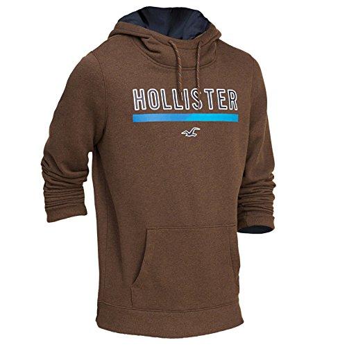 hollister-homme-printed-logo-graphic-hoodie-sweat-a-capuche-sweatshirt-longue-taille-m-marron-624778