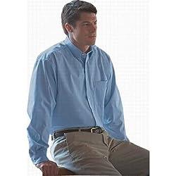 Bill Blass Men's Wrinkle-free Long Sleeve Pinpoint Shirt