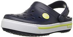 Crocs Crocband II.5 Clog (Toddler/Little Kid),Navy/Citrus,10/11 M US Little Kid