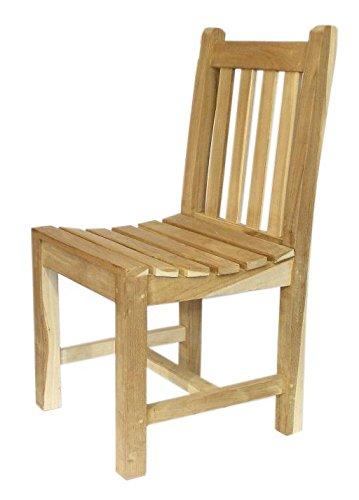 Ambientehome Teakholz Sessel Stuhl ohne Armlehne Massivholz Makati, Natur