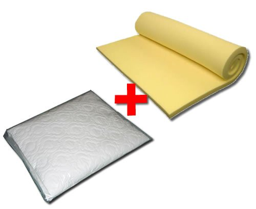 Memory Foam Topper 3000 Overlay 75mm (3in)  &  Mattress Protector - Double 4'6