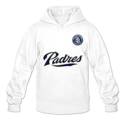 Men's San Diego Padres MLB Fashion Hoodies Sweatshirt Size US White