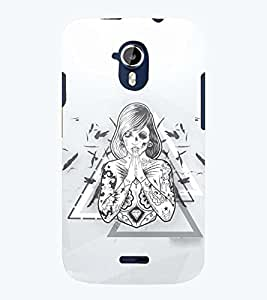 PRINTSWAG TATTOO GIRL Designer Back Cover Case for MICROMAX A117 CANVAS MAGNUS