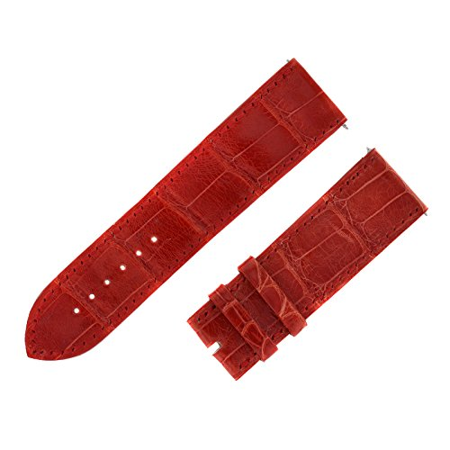 franck-muller-24-22-mm-bracelet-en-cuir-veritable-alligator-rouge