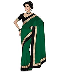 SRP Fashion Selection Women's Chiffon Saree (SRP-OF54, Green)