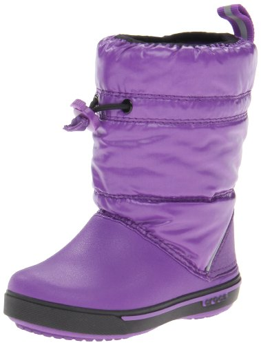 Crocs Crocband Iridescent Gust Neon Purple/Black Classic Boot 12772-57V-111 6 UK Toddler, 22/23 EU, 6 US