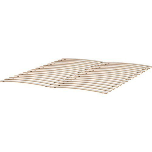 Wood Slatted Bed Base Full Size Fits Ikea Bed Frames , Birch (Slatted Bed Frame Full compare prices)