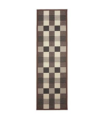 Tapis a Porter Alfombra Modern Marrón 80 x 250 cm
