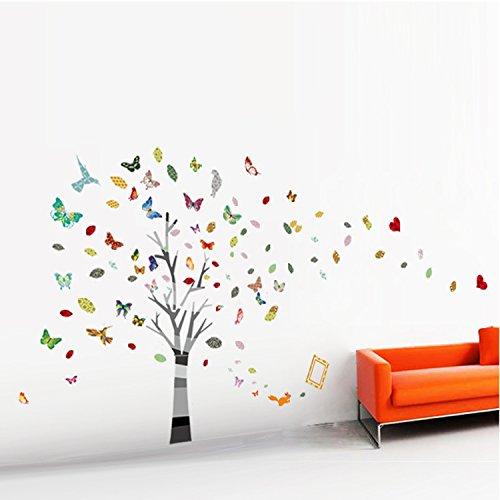 Walplus Huge Tree Butterfly Photo Baby Kids Paper Children Nursery Wall Sticker Decal Art