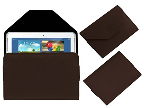 Acm Premium Pouch Case For Samsung Galaxy Note N8000 Flip Flap Cover Holder Brown  available at amazon for Rs.239