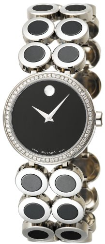 MOVADO Watch:Movado Women's 606096 Ono Stainless-Steel And Ceramic Bracelet Watch Images