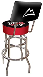 Coors Light Racing Padded Swivel Bar Stool With Back