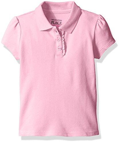 The Children's Place Girls Short Sleeve Uniform Polo Shirt, Sparkle Pink