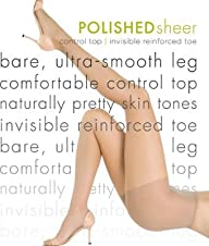 Hue Polished Sheer With Control Top P…