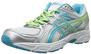 ASICS Women's Gel-Contend 2 Running Shoe,White/Turquoise/Sharp Green,8.5 M US