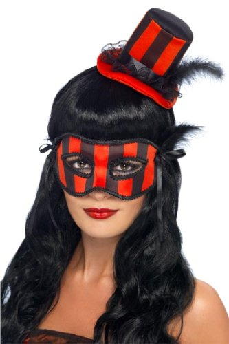 Smiffy's Burlesque Kit Costume, Red/Black, One Size - 1