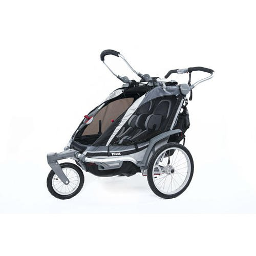 Thule Active With Kids Chariot Chinook 2 Multisport Double Child Carrier Charcoal front-1006160