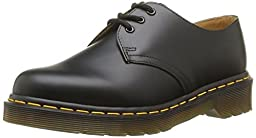 Dr. Martens Men\'s 1461 3 Eye Shoe,Black Nappa,8 UK/9 M US