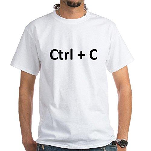 CafePress White T-Shirt - Ctrl C Ctrl V Copy Paste Twins T-Shirt - L White