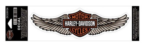 Harley-Davidson Straight Wing Decal Tan LG Size Sticker DC339124 (Harley Davidson Decal Large compare prices)