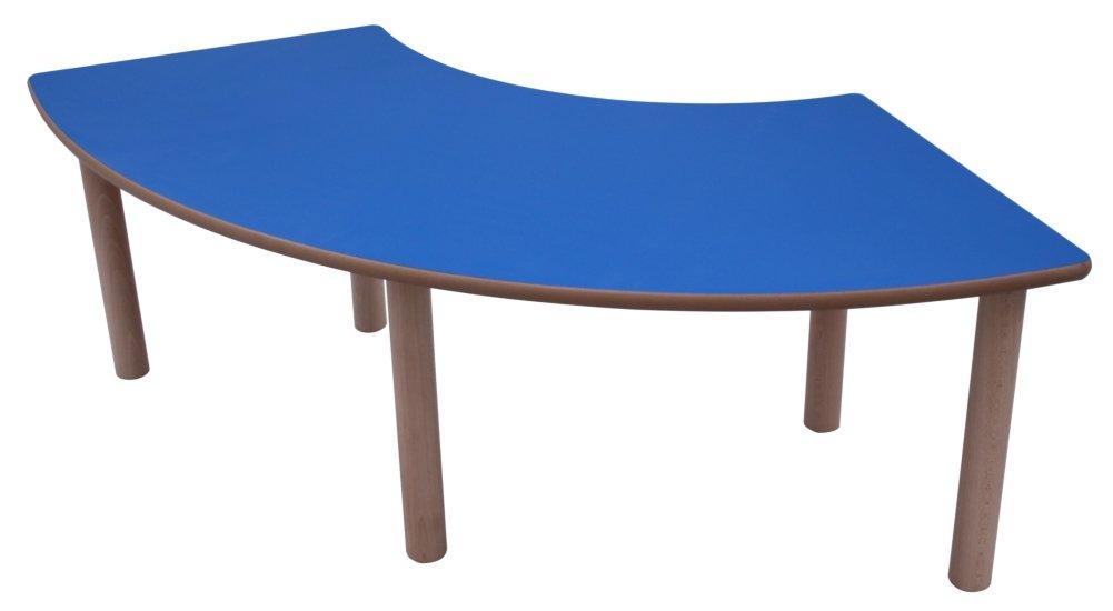 Tisch Kidz Pro -1/4 Kreis-Form, 100 x 100 cm, versch.Farben und Höhen H 59 cm rot