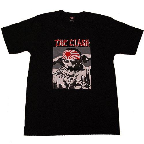 The Clash ザ・クラッシュ Kamikaze 神風 プリント ロックTシャツ バンドTシャツ ブラック