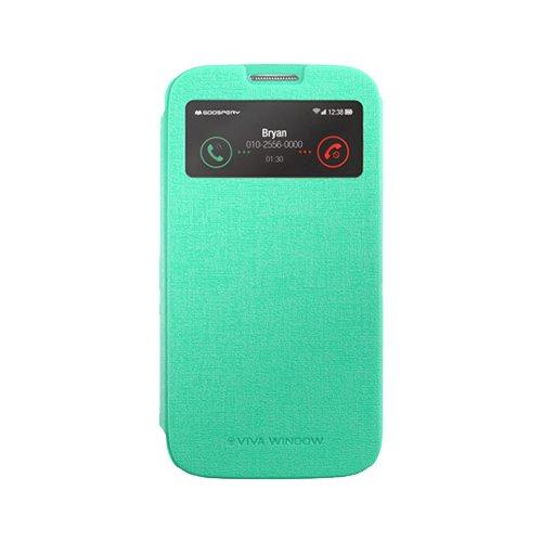 Galaxy S4 ケース Mercury Goospery Viva View Case ギャラクシー S4 ビュー フリップ ケース ミント(Mint) / SC-04E 携帯 スマホ スマートフォン モバイル ケース カバー カード 収納 ポケット スロット
