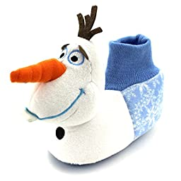 Frozen Olaf Toddler Little Kid Sock Top Slippers (S (5/6) M US Toddler)
