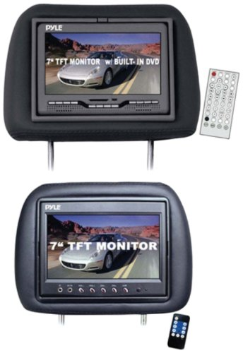 Pyle DVD Monitors PLD7HB 7-Inch Pair of Headrest Monitors with DVD Player