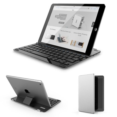 Click to buy Anker Bluetooth Ultra-Slim Keyboard Cover for iPad Air 2 / Air with 6-Month Battery Life Between Charges and Comfortable Low-Profile Keys TC930 - From only $58.74