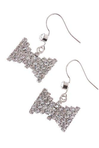 The Jewel Rack Crystal Bow Earrings