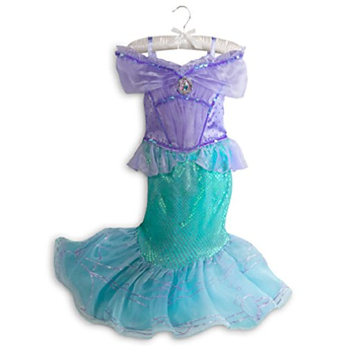 Disney - Ariel Little Mermaid 2014 Style Fancy Costume for Girls- Size 9/10 - NEW