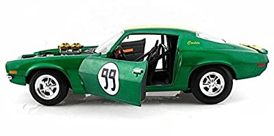 New 1:18 JOHNNY LIGHTNING DUKES OF HAZZARD - GREEN 1970 COOTER'S CHEVROLET CAMARO #99 Diecast Model Car By Johnny Lightning