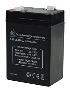 HQ 6V 4Ah Universal Sealed Rechargeable Lead Acid Battery