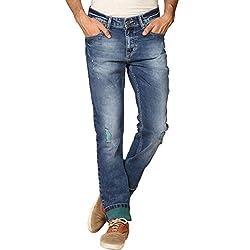 Provogue Men's Droop Slim Fit Jeans (8903522453977_103697-BL-024-38_Blue)