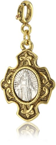 The Vatican Library Collection Two Tone St. Mary Charm