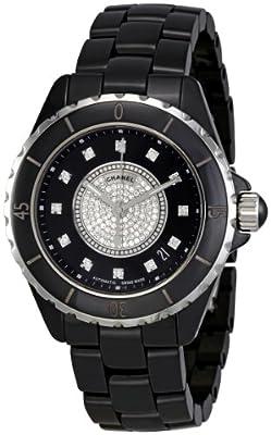 Chanel Men's H1757 J12 Diamond Dial Watch
