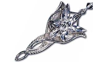 Le seigneur des anneaux Pendentif Noble collection Arwen Etoile du Soir 5cm Noble collection