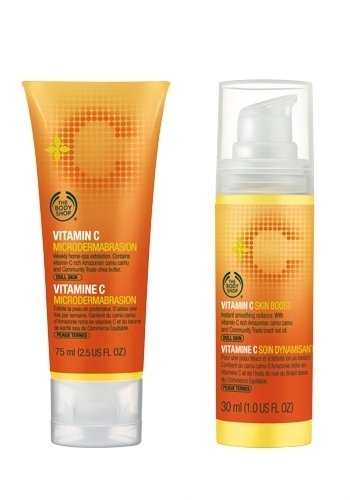 Vitamin-C-Mikrodermabrasion 75ml + Vitamin C Haut Anhebung / Haut Erneuerer 30ml Geeignet für Männer und Frauen, die Hautstruktur und Ton verbessern Vitamin C Microdermabrasion 75ml + Vitamin C Skin Boost/Skin Reviver 30ml Suitable for Men & Women to Improve Skin Texture and Tone